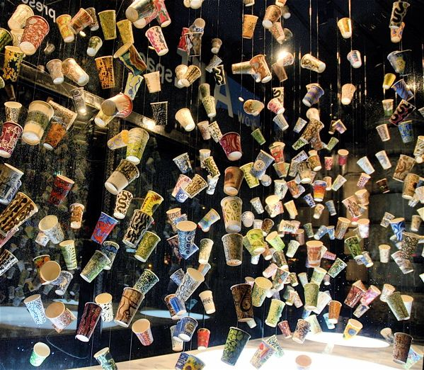 Spectacular Hanging Cups Installation   2 cool!!!   Coffee