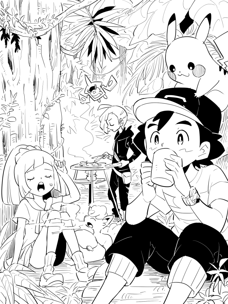 Ash Lillie And Gladion Pokemon Sun And Moon Pokemon Pokemon Sun Pokemon Alola