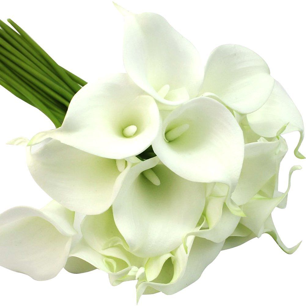 Silveriver New 13 Mini Calla Lily Bridal Wedding Bouquet Head Latex