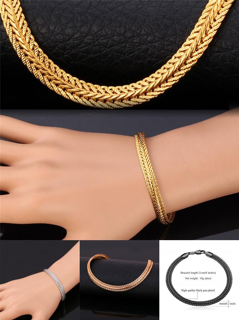 Visit to Buy Bracelet For Men Women Fashion Jewelry Rose Gold