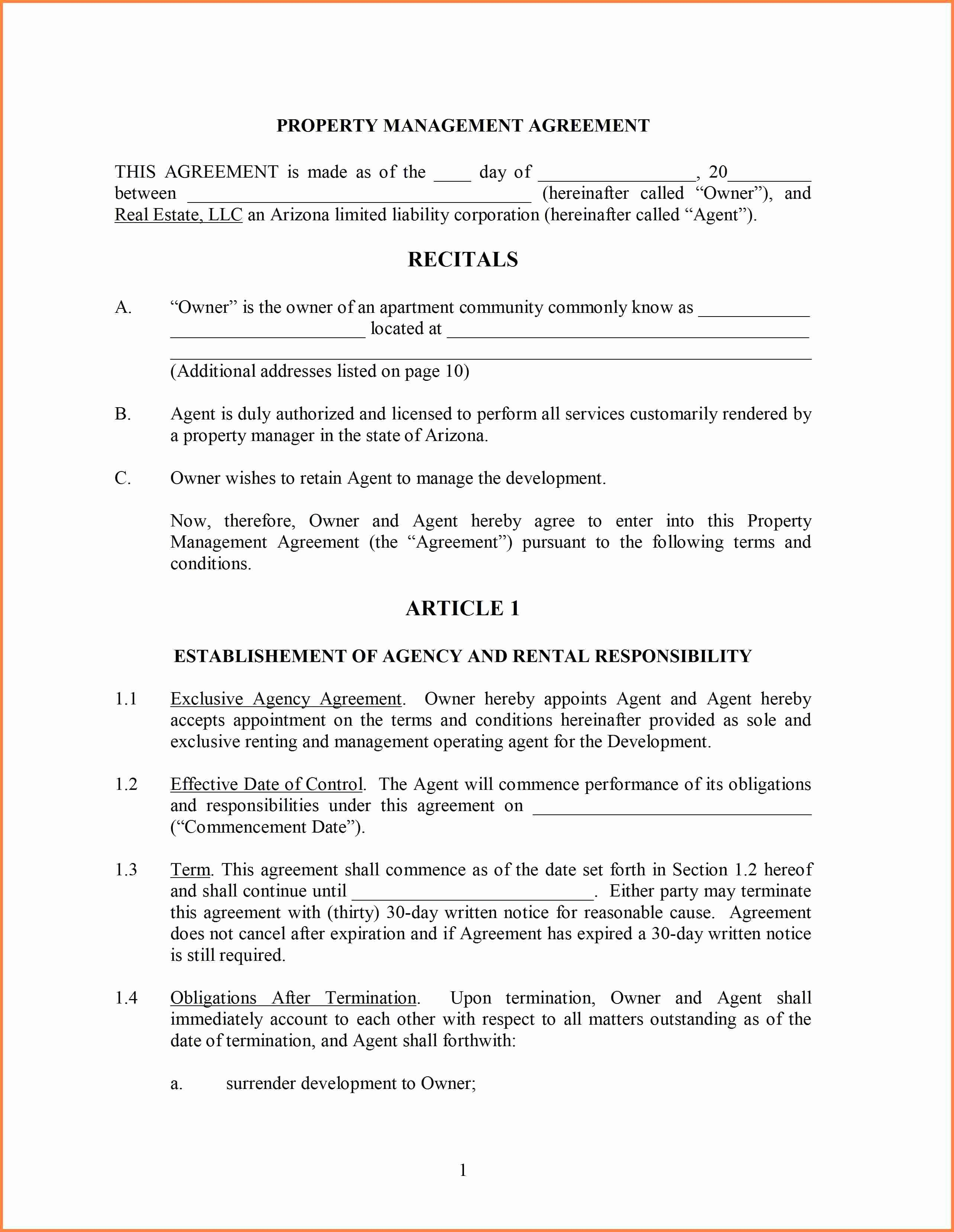 Project Management Contract Template In 2020 Contract Template