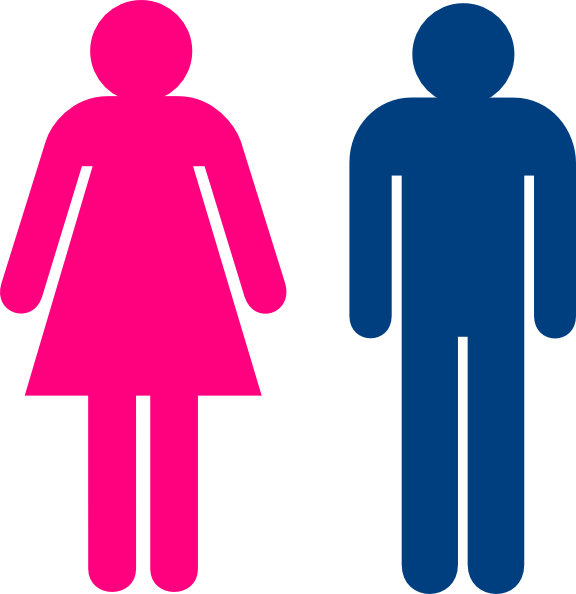 Public Toilet Male And Female Signs Female Symbol Frugal Habits
