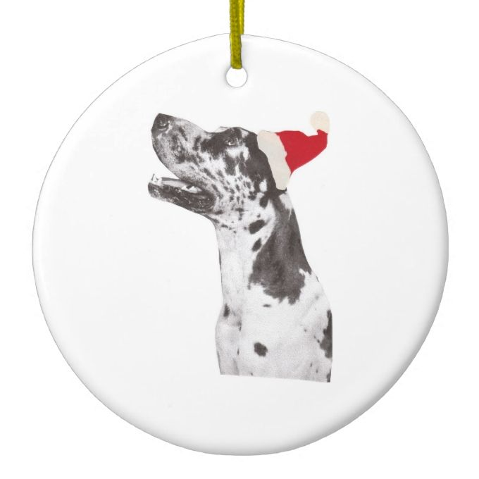 Great Dane Holiday Ornament Zazzle Com Holiday Ornaments
