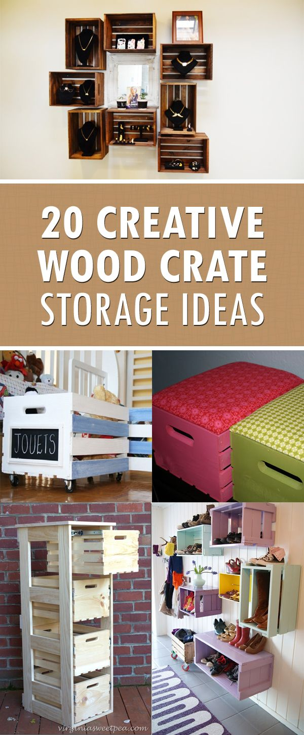 20 Wood Crate Storage Ideas To Organize Your Stuff Crate Storage