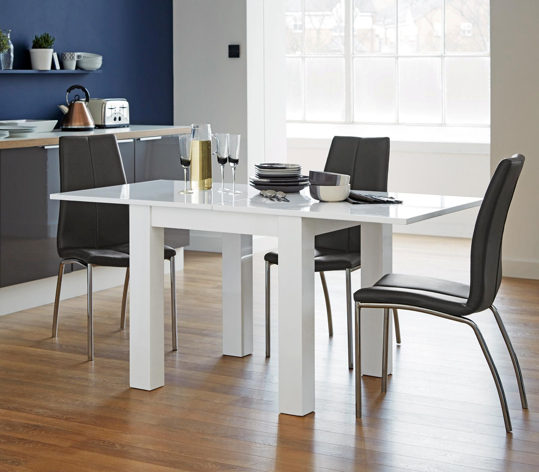 Buy Valencia 4 6 Seater Square To Rectangle Dining Table From The