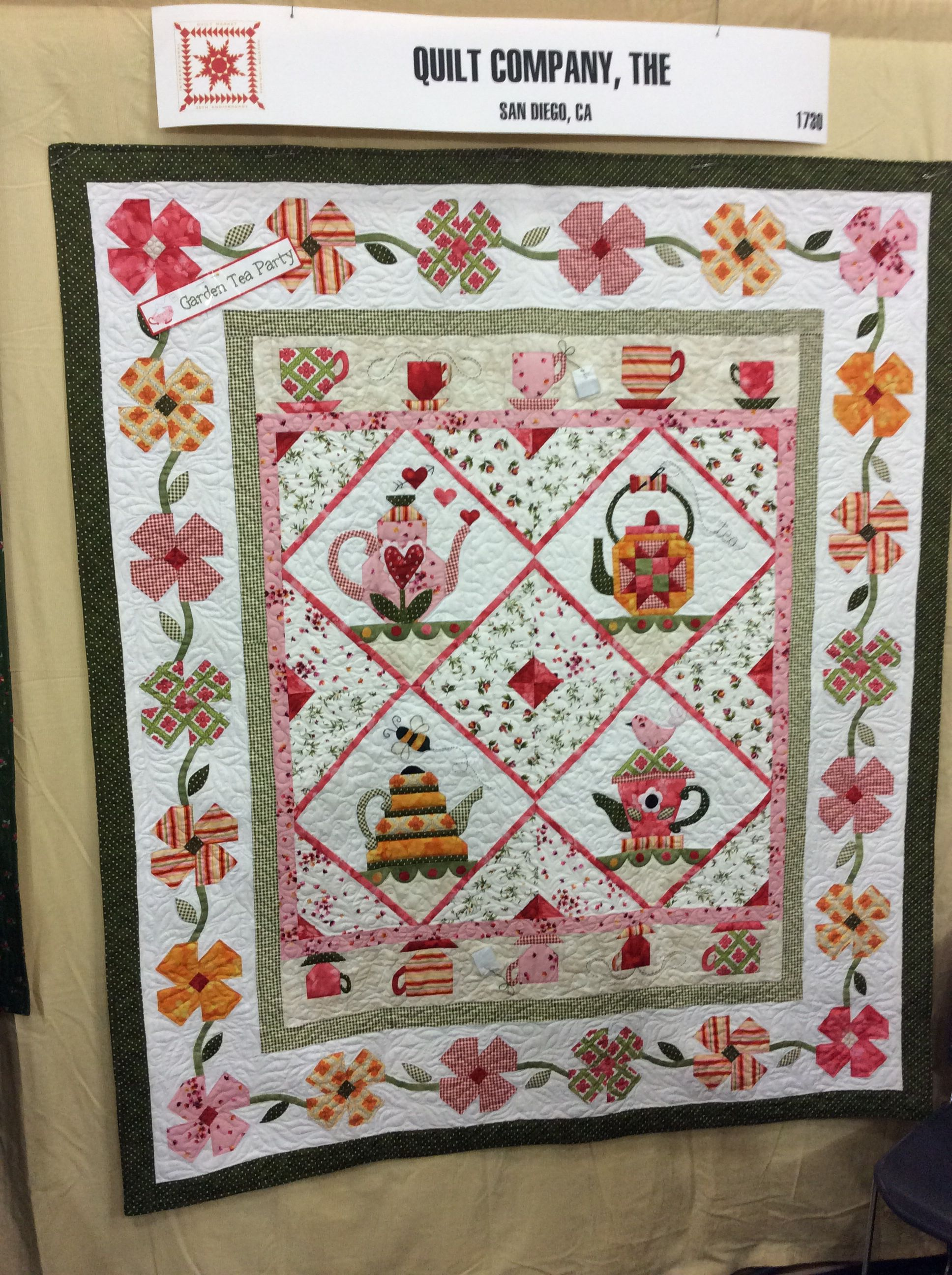 Garden Tea Party Bom By The Quilt Company Using Catalina