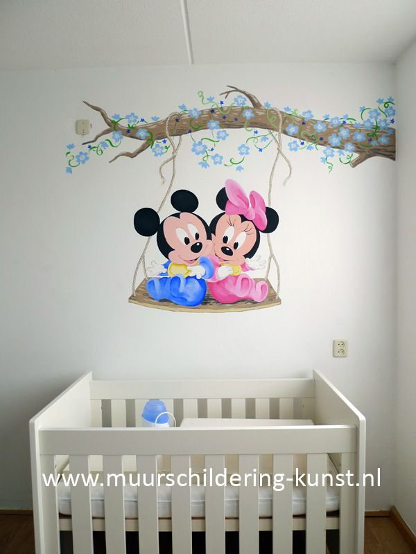Mickey mouse muurschildering kinderzimmer pinterest kinderzimmer kinderzimmer ideen und - Wandbemalung ideen ...