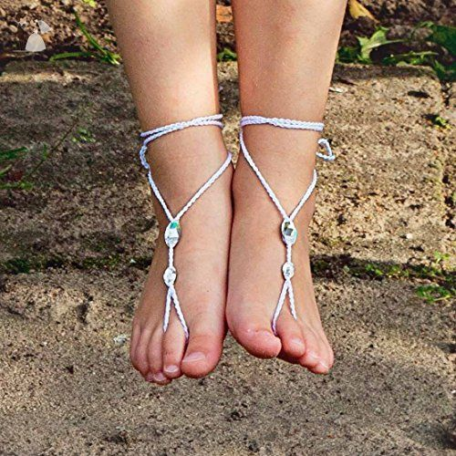 7cb36e0ca117f Simple Swarovski Barefoot Sandals, Toddler Foot Jewelry US size 5-10 ...