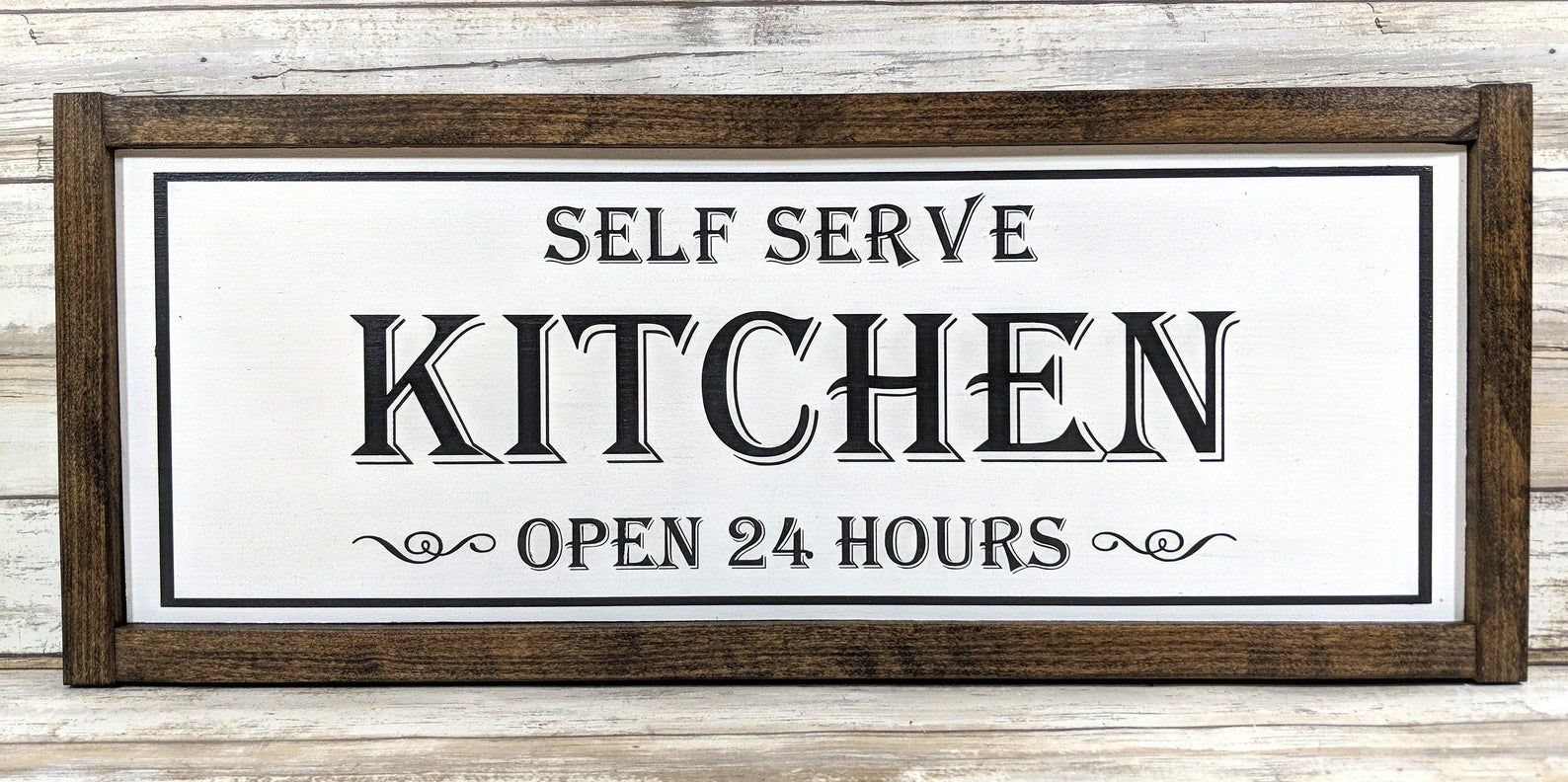 self serve kitchen open 24 hours rustic wood | etsy in