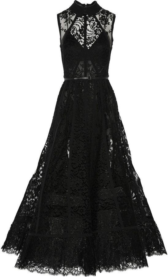 Elie Saab Paneled Black Tulle Gown #wedding