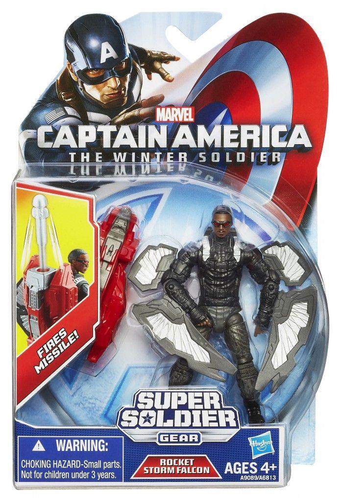 Marvel Captain America Winter Soldier Falcon Super Soldier Gear Fires Missles