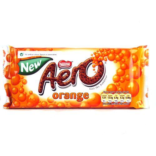 Aero orange milk chocolate this is a discontinued item for Food bar orange
