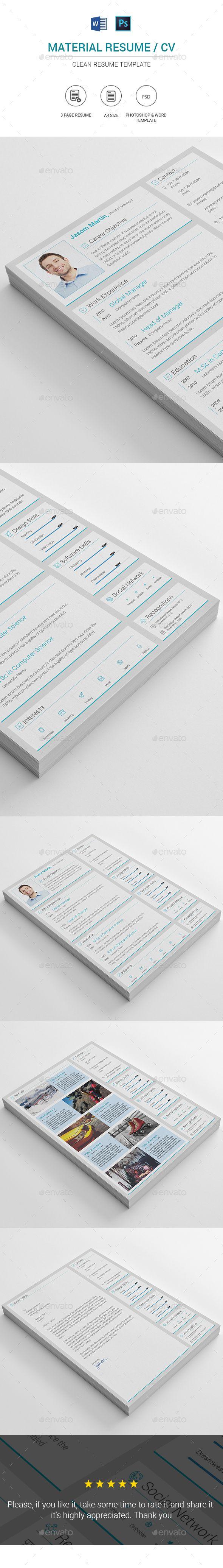 Standard Resume Font Resume  Pinterest  Template Cv Resume Template And Resume Cv