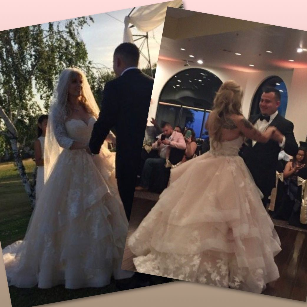 The bustle wedding dresses  Stunning sotteroandmidgley gown on our stunning bride Sara The