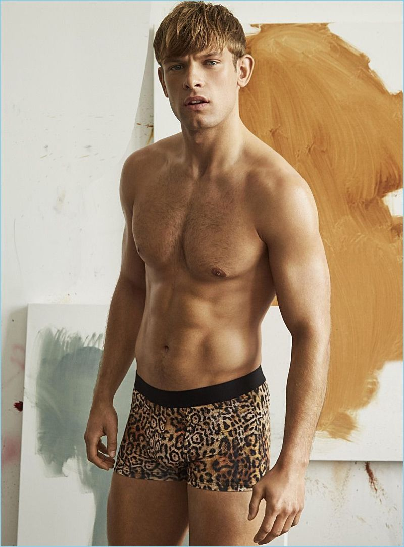Guys in lepard printed underwear