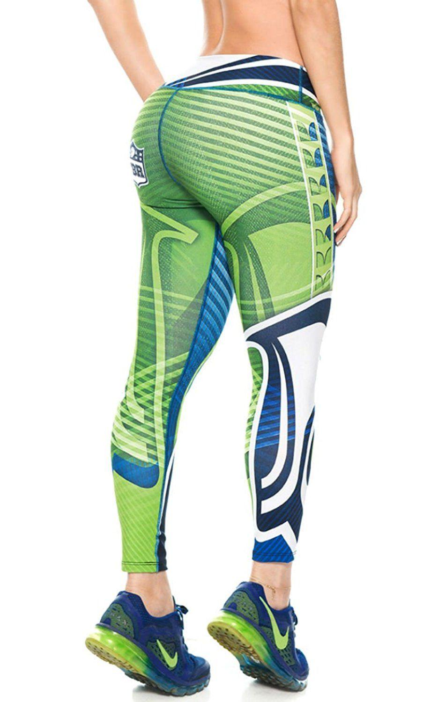 65b0fff4 Atlanta Falcons Football Leggings NFL Yoga Pants Women's Compression ...
