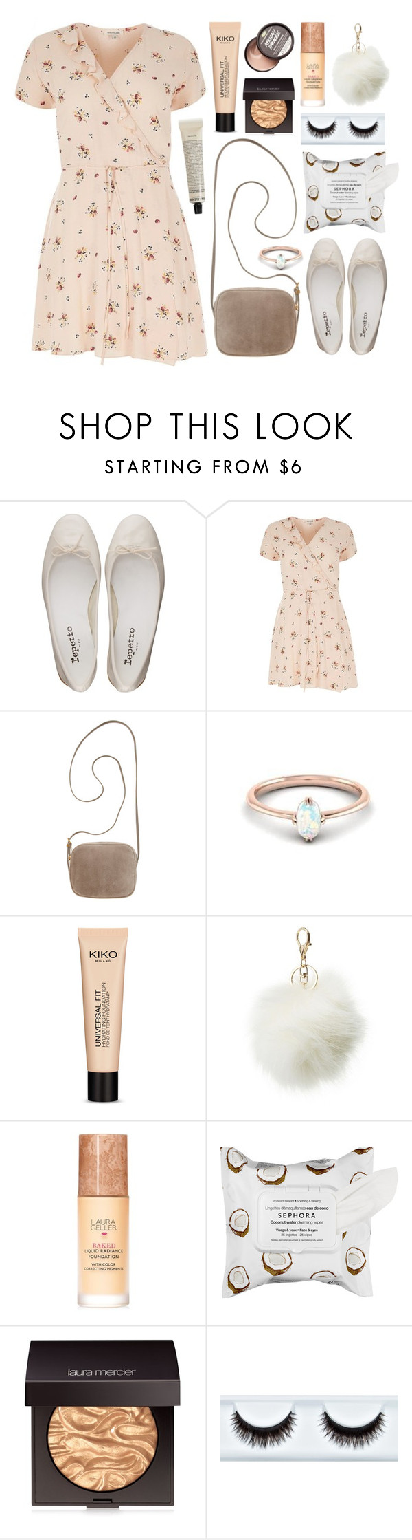 """African Paradise"" by sophiehackett ❤ liked on Polyvore featuring Repetto, River Island, The Row, Charlotte Russe, Laura Geller, Sephora Collection, Laura Mercier and Grown Alchemist"