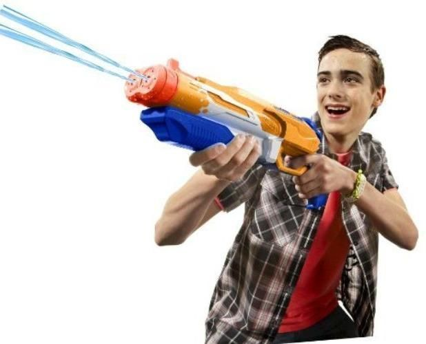 Childrens Gun NERF Super Soaker Double Drench Blaster Water Pistol Kids Fun Game