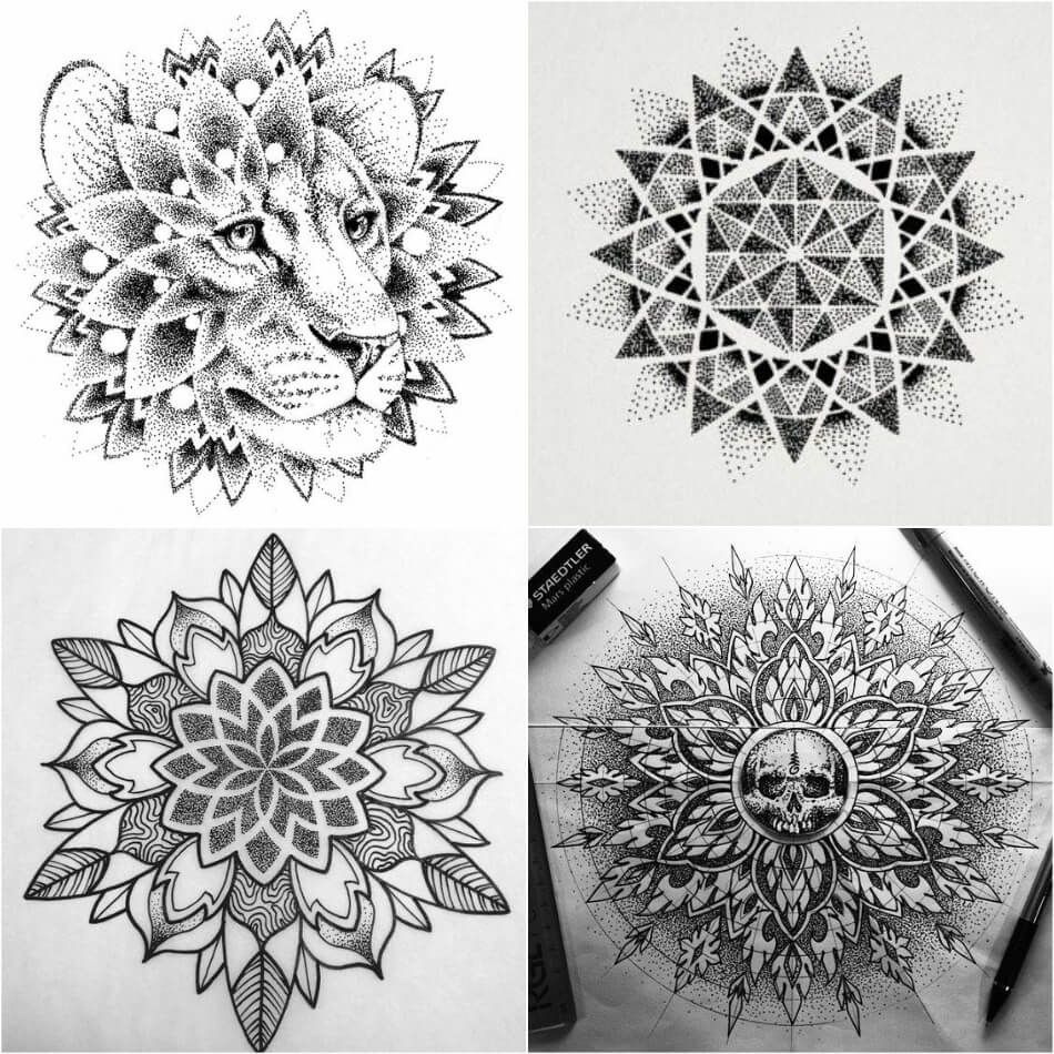 Dotwork Tattoo Dotwork Tattoo Technique Dotwork Tattoo Designs Explore More Tattoo Ideas On P Mandala Tattoo Design Abstract Tattoo Designs Tattoo Designs
