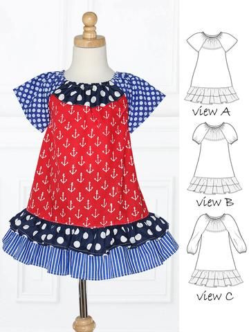 Girls Dress Patterns Modern Easy Dress Patterns For Girls