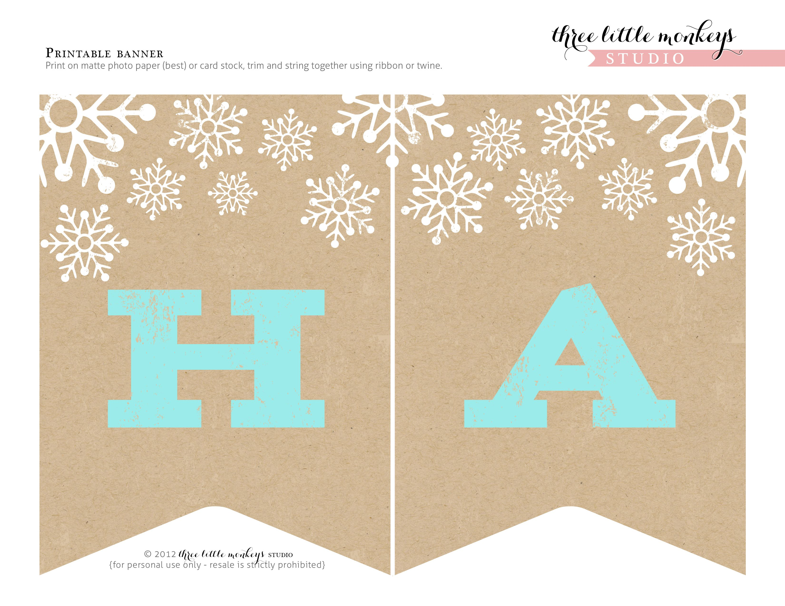 Free Christmas Party Printables From Three Little Monkeys Studio