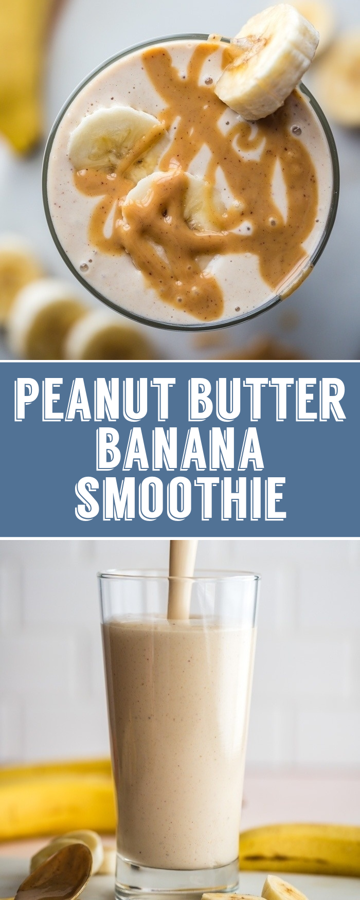 Peanut Butter Banana Smoothie- this Peanut Butter & Banana Smoothie is my go to …