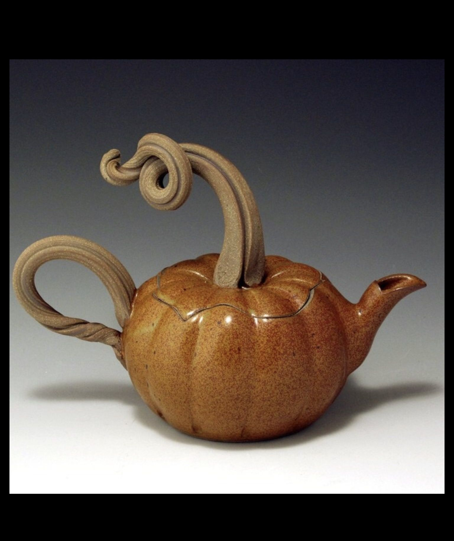 Pin By Allix Dupuy D Angeac On Ceramics Tea Pots Pumpkin Tea Clay Teapots
