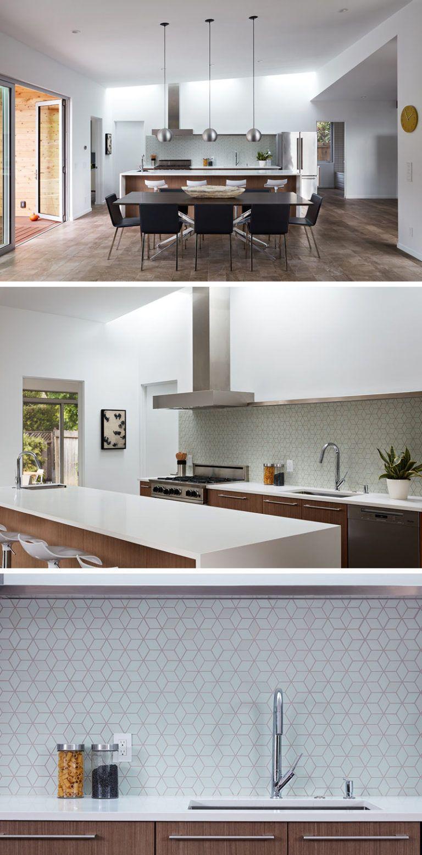 San Carlos Midcentury Modern Remodel By Klopf Architecture Modern Kitchen Backsplash Kitchen Backsplash Designs Mid Century Modern Kitchen