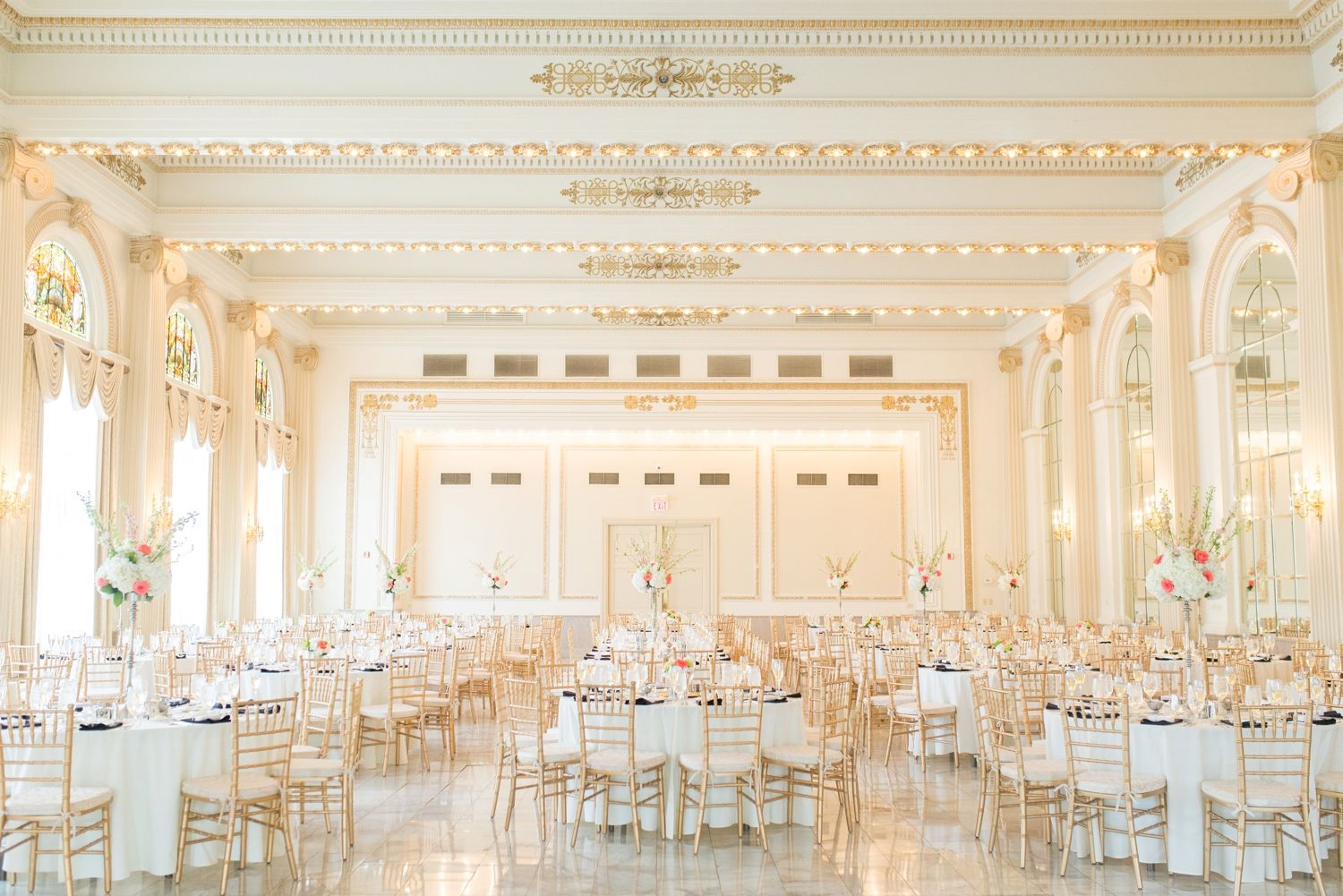 How A Reception Looks In The Westin Ballroom