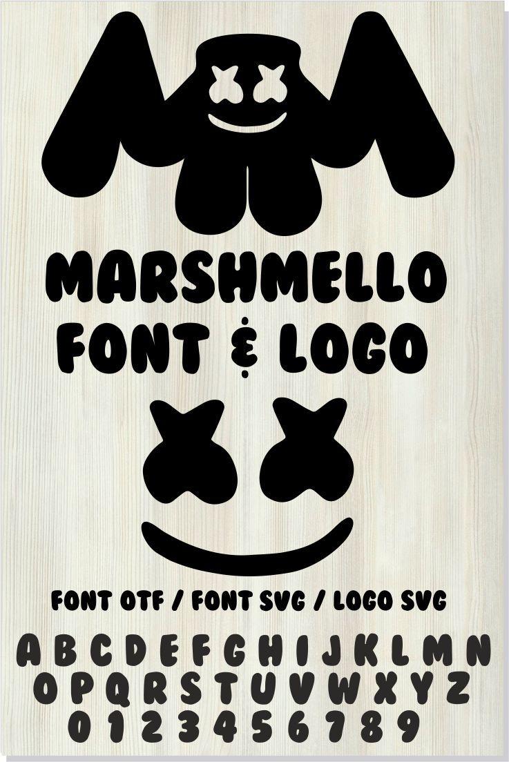 DJ Marshmello font SVG + DJ Marshmello installable font