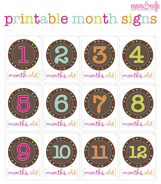 Enjoyable Printable Month Signs For Baby Pictures Crafty Baby Interior Design Ideas Lukepblogthenellocom