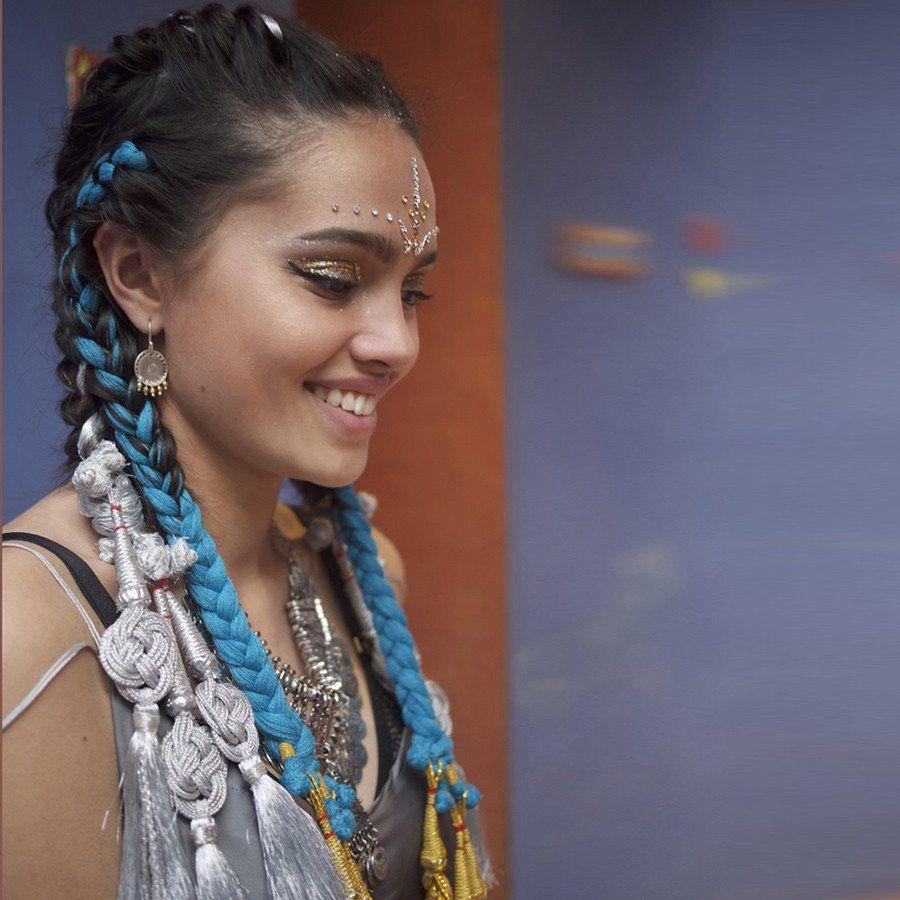 glo paranda - indian hair braid silver | indian hairstyles