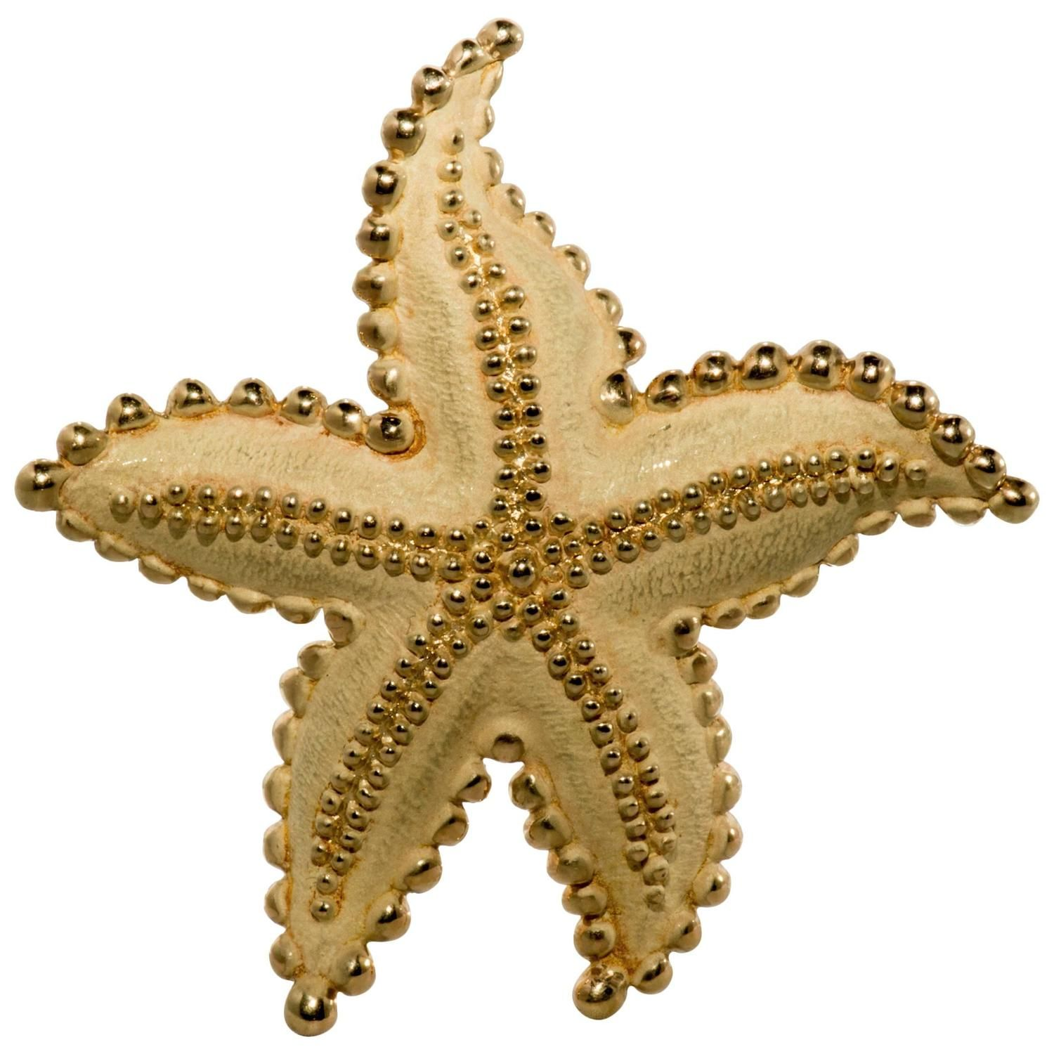 3f562a10c Tiffany & Co. Gold Starfish Brooch | From a unique collection of  vintage brooches