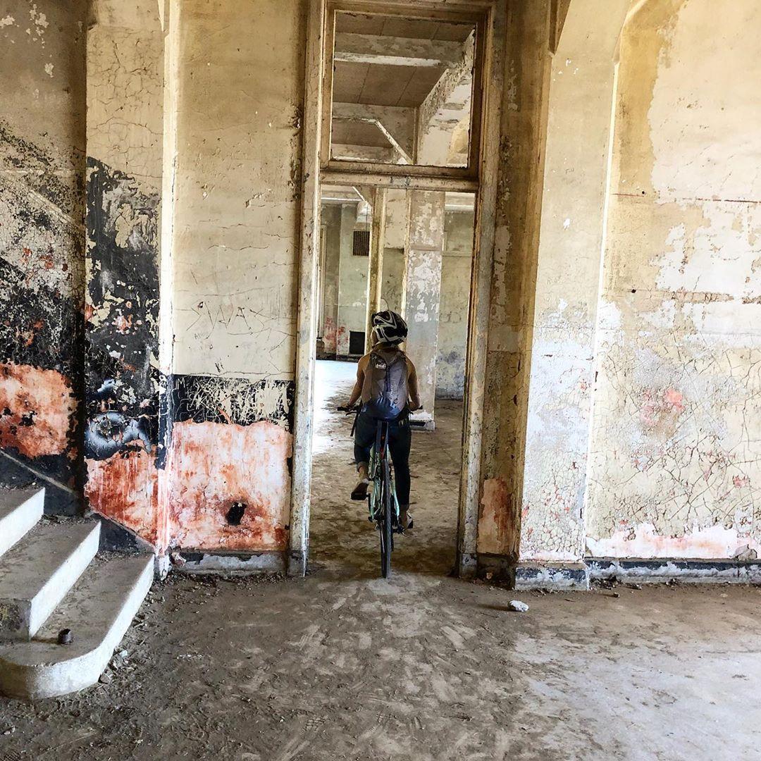 Riding Through Abandon Buildings On Angel Island