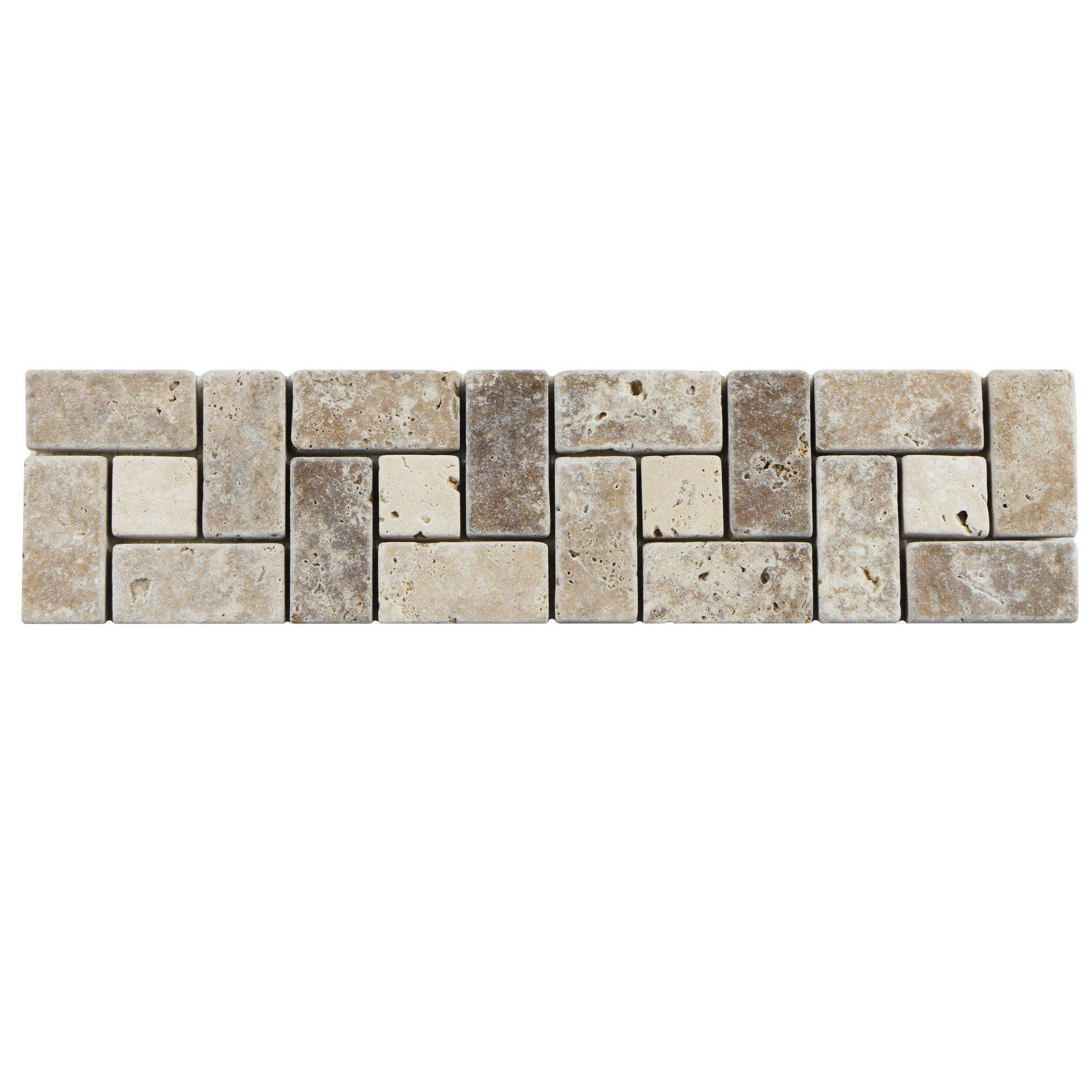 Boutin 12 X 3 Travertine Spiral Trim Listello Border Tile In