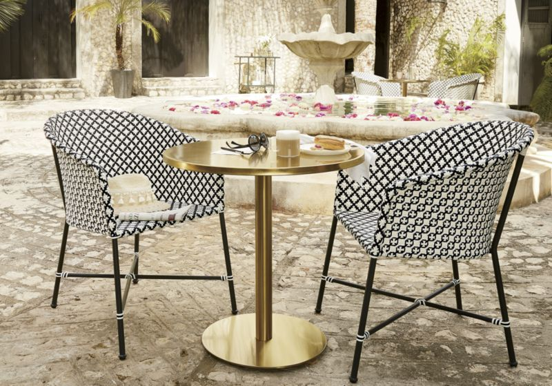 Brava Outdoor Wicker Dining Chair Reviews Cb2 Wicker Dining Chairs Patio Furnishings Bistro Table