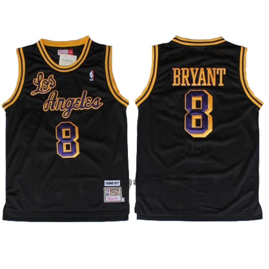 525b225dc ... kobe bryant jersey los angeles lakers 8 black throwback jersey. the name