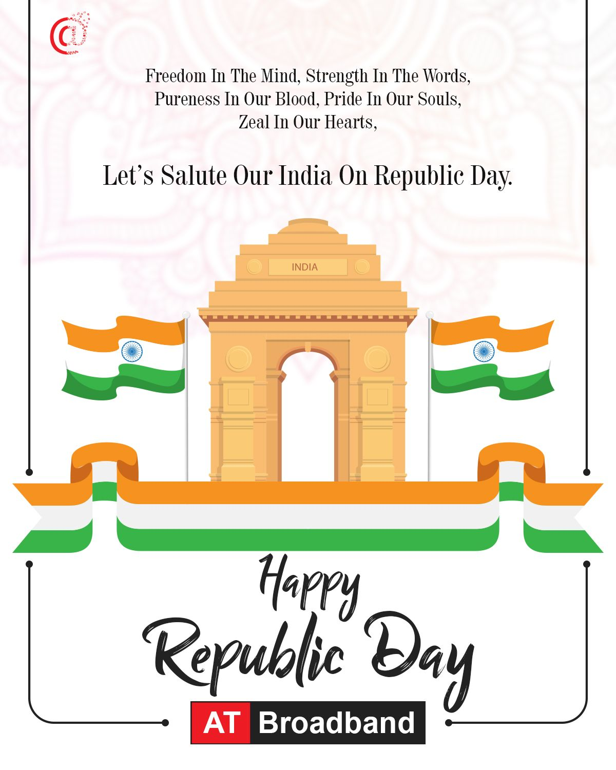 The Power To Govern Us Happy Republic Day 2019 Internet Providers Internet Plans Republic Day