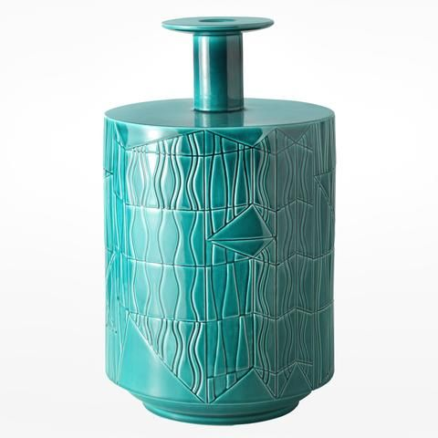 Bethan Laura Wood for Bitossi Ceramiche vase A in green