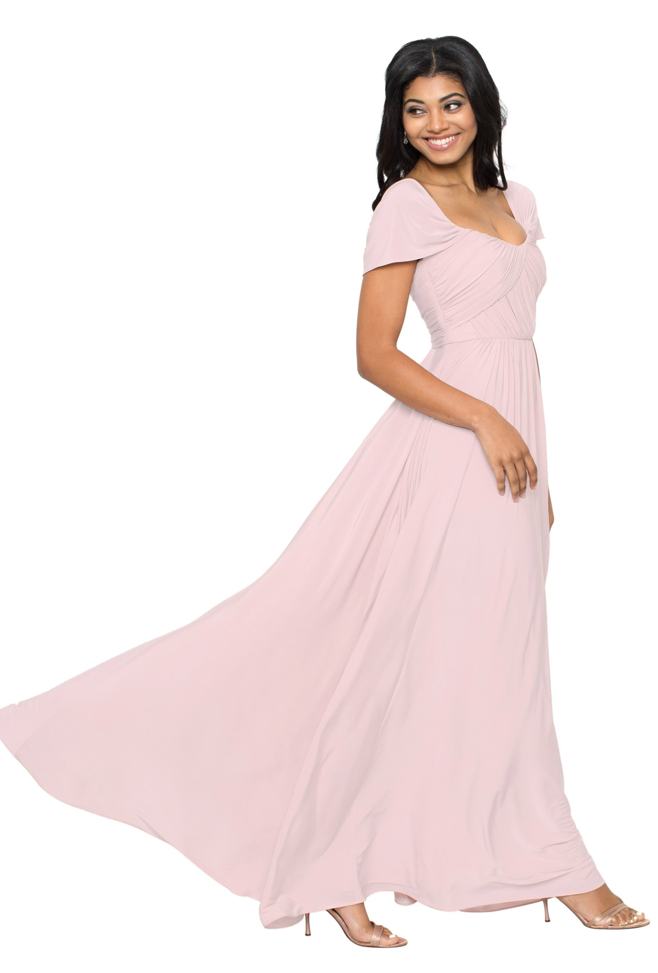 Jy jenny yoo taylor convertible bridesmaid dresses designer a floor length convertible cap sleeve bridesmaid dress in eight colors affordable designer bridesmaid ombrellifo Image collections