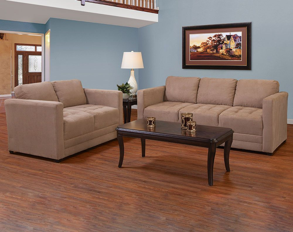 Tan Microfiber Couch Set  Sienna Mocha Sofa And Loveseat Best Dining Room Furnitures Design Ideas