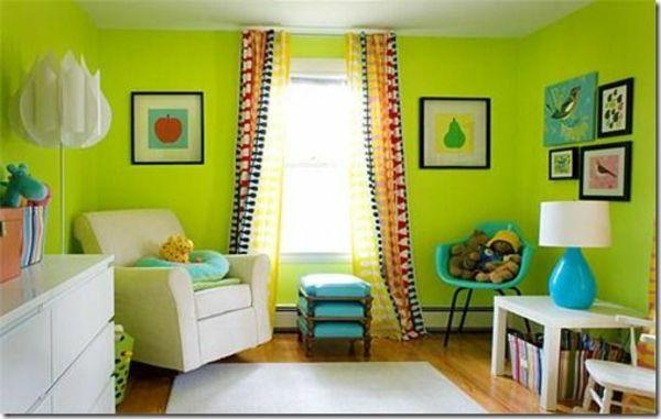 Charmant Idee Kinderzimmer Gestaltung Grell Grün