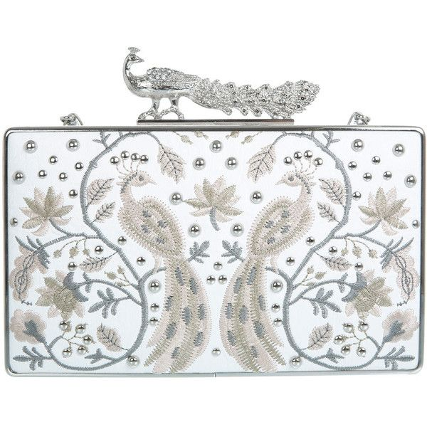 Miss Selfridge DESIGNED BY Peacock Clutch (€81) found on Polyvore
