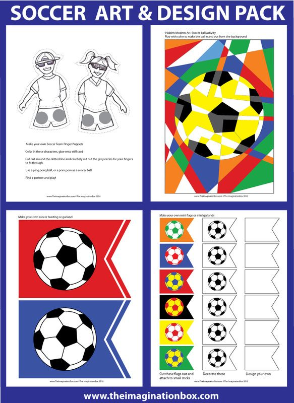 The ImaginationBox Kids Footballsoccer Crafts And Activities 40 New Decorate Your Own Soccer Ball
