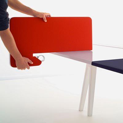 Desktop Office Screens In Fabric. Upholstered Desk Dividing Screens