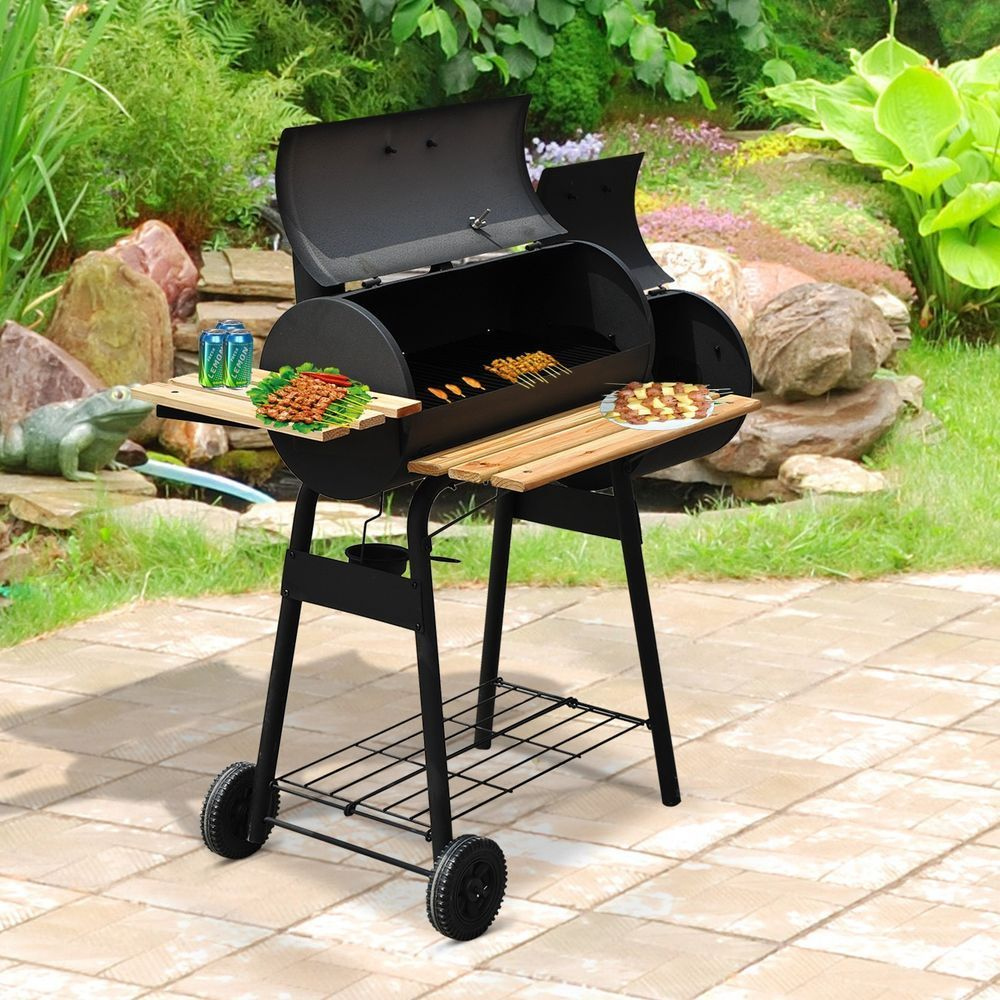 Garden barbecue charcoal grill offset smoker combo outdoor patio lawn furniture gardenbarbecuecharcoal