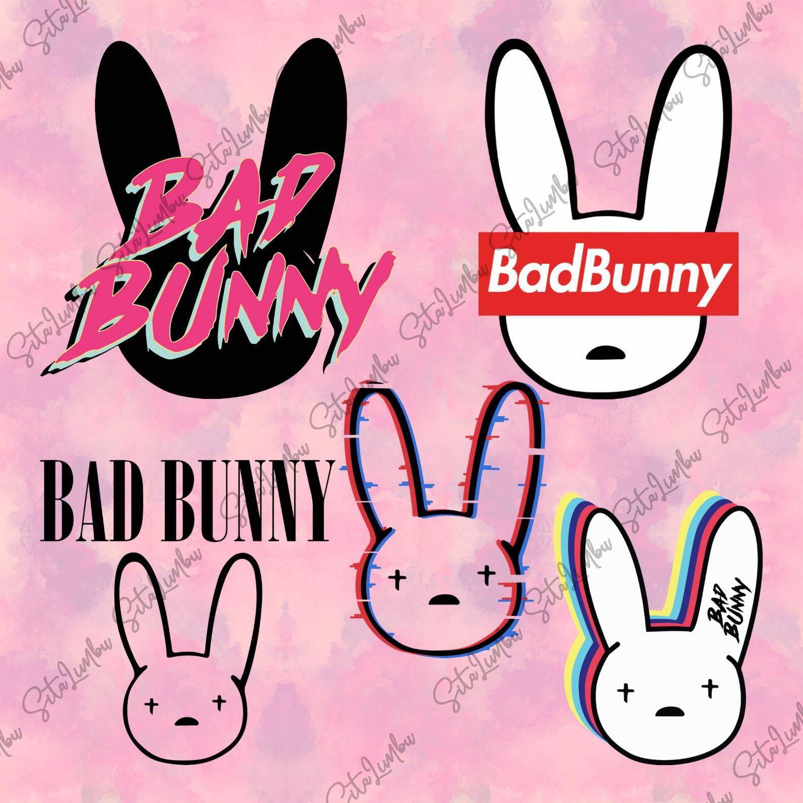 Bad Bunny Svg File Bab Bunny Bundle Bad Bunny Logo Svg Files For Cricut Dxf Eps Png Bunny Poster Bunny Svg Bunny Wallpaper