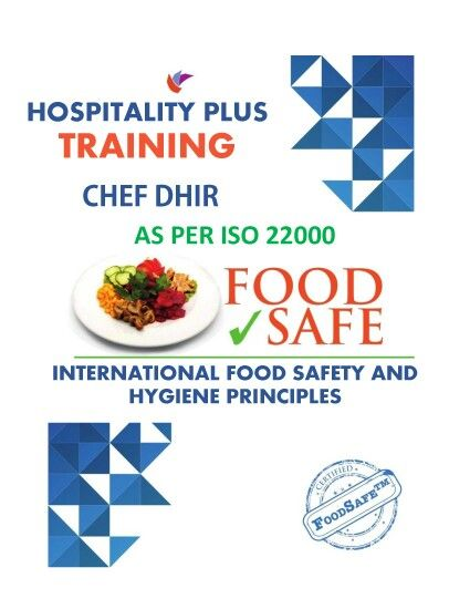 International food safety and hygiene standards as per ISO22000 - safety program