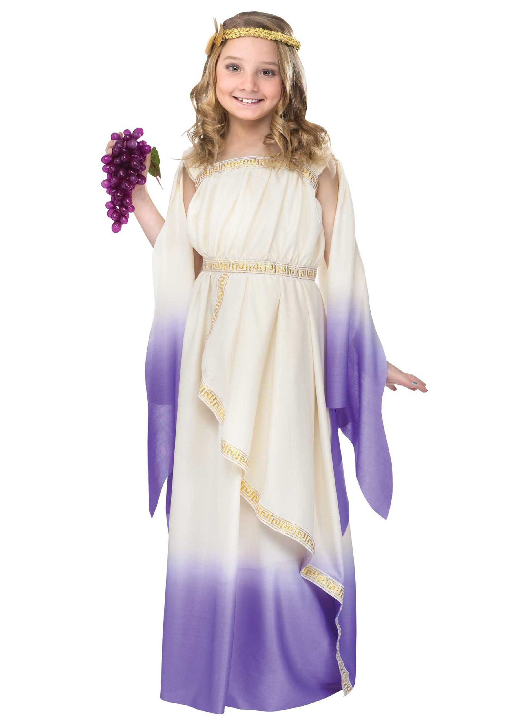 Girls Purple Goddess Costume | Goddess costume, Halloween costumes ...