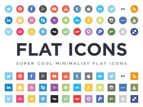 Free Minimalist Flat Design Social Media Icons Social Media Icons Free Free Icon Set Social Media Icons